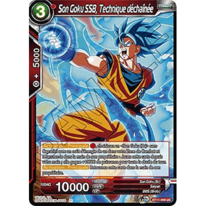 image BT11-006 Son Goku SSB, Technique déchaînée