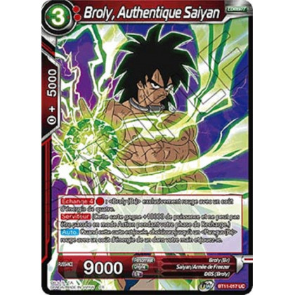 image BT11-017 Broly, Authentique Saiyan