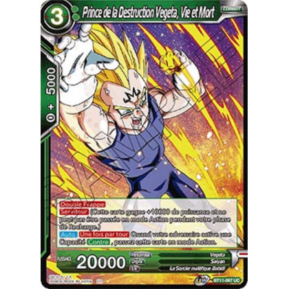 image BT11-067 Prince de la Destruction Vegeta, Vie et Mort