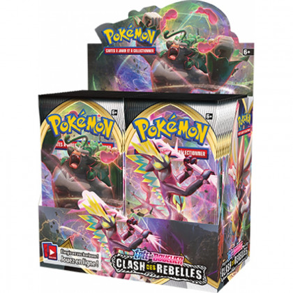 Display Boîte de 36 Boosters Épée et Bouclier : Clash des Rebelles Pokémon FR