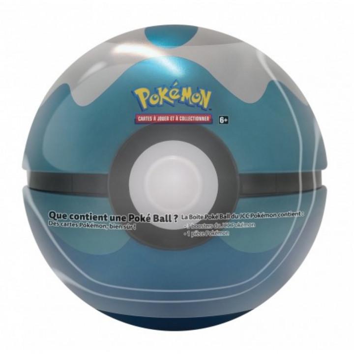 Pokémon - The Pokémon Company - Pokébox - Poké Ball Tin : Scuba Ball (3 boosters + 1 jeton)