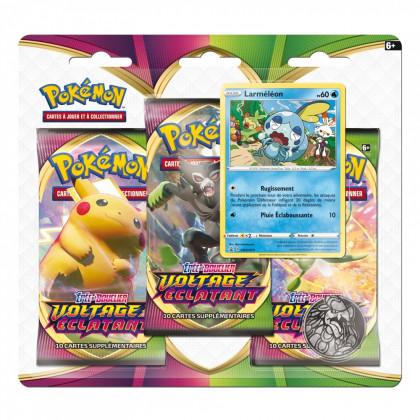 Pokémon - Boosters en Français - Tripack 3 Boosters - EB04 - Épée et Bouclier 4 Voltage Eclatant - Larméléon