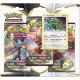 Pokémon - Boosters en Français - Tripack 3 Boosters - EB02 - Épée et Bouclier 2 Clash des Rebelles - Rayquaza