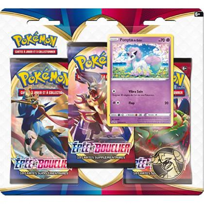 Tripack Pokémon Épée et Bouclier - Ponyta de Galar