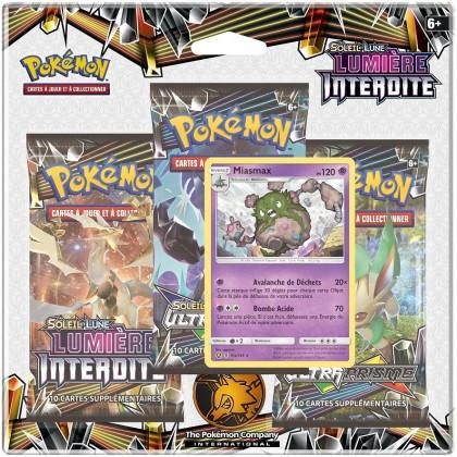Pokémon Company - Boosters en Français - Tripack 3 Boosters - SL6 - Soleil Et Lune 6 - Lumière Interdite - Miasmax