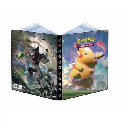 Pokémon - Portfolios - EB04 - Voltage Eclatant - Pikachu Vmax & Zarude (10 Feuilles De 4 Cases 80 Cartes)