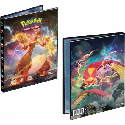Pokémon - Portfolios - EB03 - Ténèbres Embrasées - Dracaufeu VMAX & Scolocendre VMAX (10 Feuilles De 4 Cases 80 Cartes)