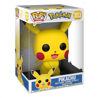 Figurine Funko POP Pikachu (Super Sized) (Pokémon) #353 - DracauGames