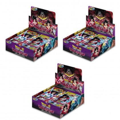 Lot de 3 Displays Boites de 24 Boosters Vermilion Bloodline - Dragon Ball FR
