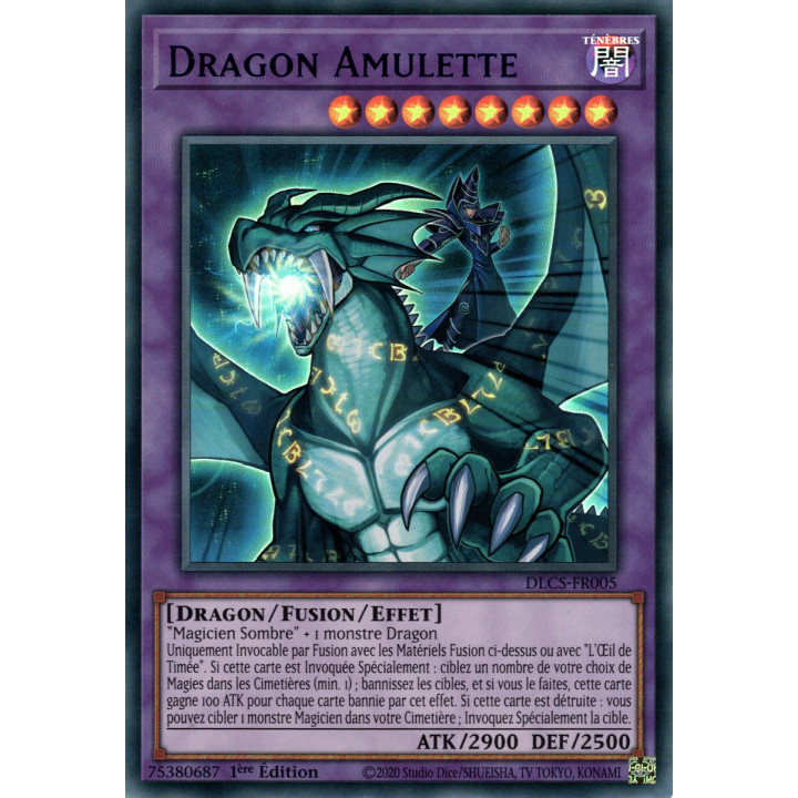DLCS-FR005 Dragon Amulette (Bleu)