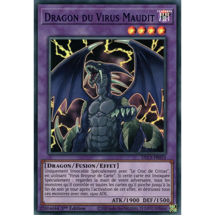 DLCS-FR055 Dragon du Virus Maudit (Bleu)