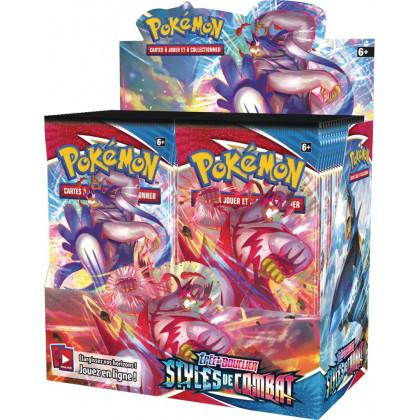 Display Boîte 36 Boosters Épée et Bouclier Styles de Combat Pokémon FR