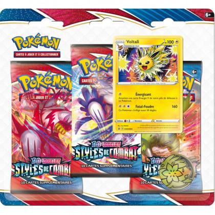 Pack 3 Boosters Voltali EB05 Styles de Combat Pokémon FR