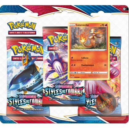 Pack 3 Boosters Salamèche EB05 Styles de Combat Pokémon FR