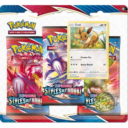 Pack 3 Boosters Evoli EB05 Styles de Combat Pokémon FR