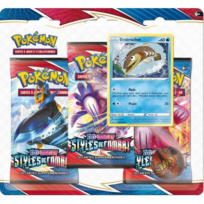 Pack 3 Boosters Embrochet EB05 Styles de Combat Pokémon FR