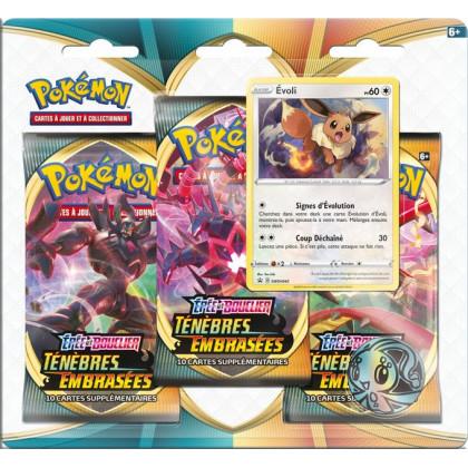 Tripack Evoli Épée et Bouclier : Ténèbres Embrasées Pokémon