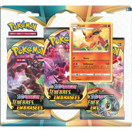 Tripack Pyroli Épée et Bouclier : Ténèbres Embrasées Pokémon