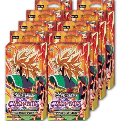 Lot de 8 Premium Pack GE02 Dragon Ball TB3 Clash of Fates VF