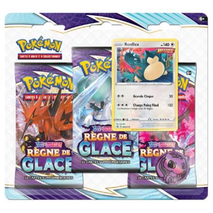 Tripack Ronflex Épée et Bouclier EB06 : Règne de Glace - Pokémon