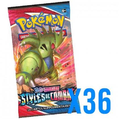 Lot de 36 Boosters EB05 Épée et Bouclier : Styles de Combat Pokémon (Sous Blister)