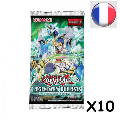 Lot de 10 Boosters Duellistes Légendaires : La Tempête Synchro - Yu-Gi-Oh! FR