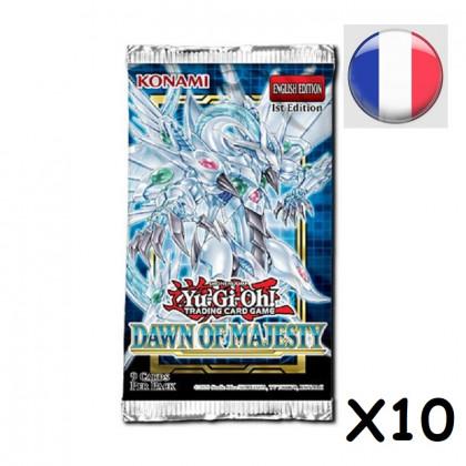 Lot de 10 Boosters L'Aube de la Majesté - Yu-Gi-Oh! FR