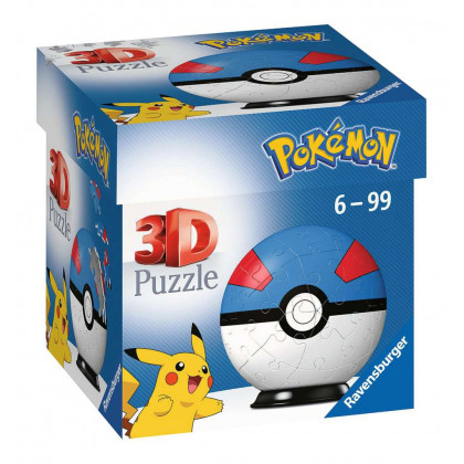 Pokémon - Ravensburger Puzzle 3D Ball 54 p - Super Ball - 11265
