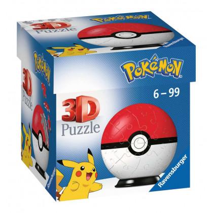Pokémon - Ravensburger - Puzzle 3D Ball 54 p - Pokéball - 11256