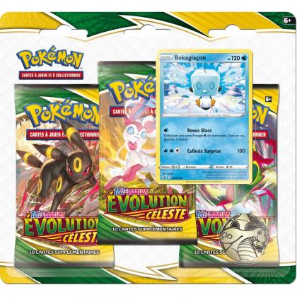 Pokémon - Tripack Boosters EB07 Évolution Céleste : Bekaglaçon