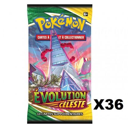 Lot de 36 Boosters Évolution Céleste EB07 (sous Blister) - Pokémon FR