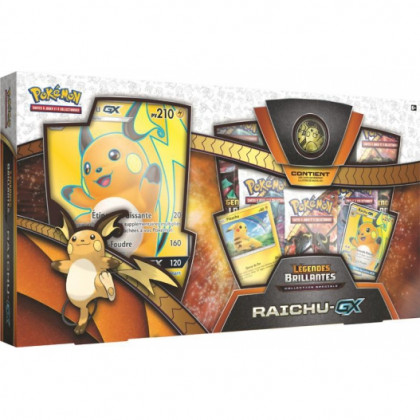 Coffret Raichu Gx Légendes Brillantes SL3.5 - Pokémon FR