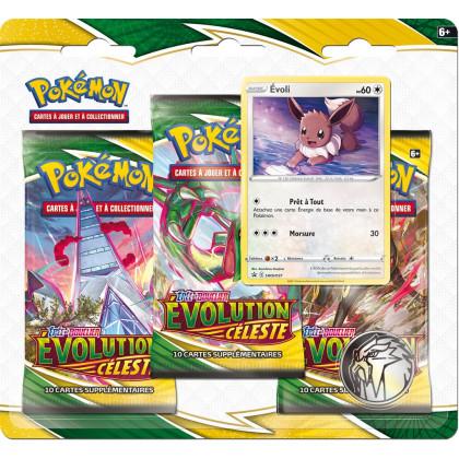 Tri-Pack EB07 : Epée et bouclier Evolution Celeste : Evoli - Pokémon FR