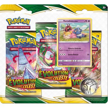 Tri-Pack EB07 : Epée et bouclier Evolution Celeste : Ramoloss de Galar- Pokémon FR