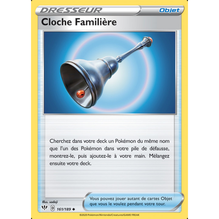 SWSH03_161/189 Cloche Familière *Reverse*