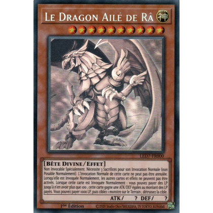 LED7-FR000 Le Dragon Ailé de Râ (Ghost Rare)